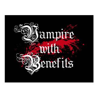 Vampire with Benefits Postcard