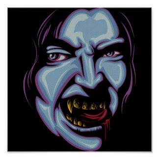 Vampire with grillz posters