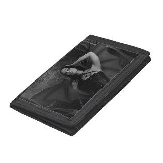 Vampire Woman Black TriFold Nylon Wallet