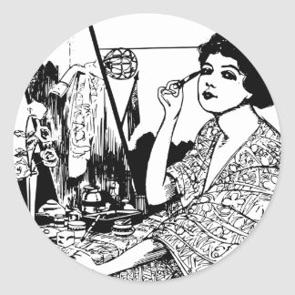 Vampire Woman Classic Round Sticker