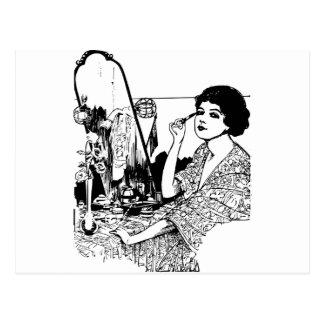 Vampire Woman Postcard