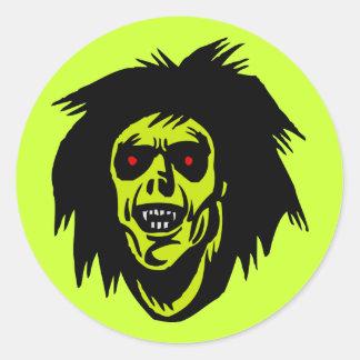 vampire zombie classic round sticker