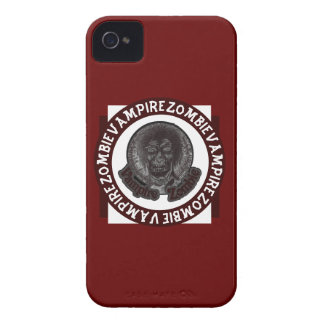 Vampire Zombie - Red & White 2 iPhone 4 Cover