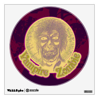 Vampire Zombie, Yellow/Green Wall Decal