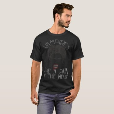 Beach Themed Vampires Are A Pain In The Neck Halloween Distress T-Shirt