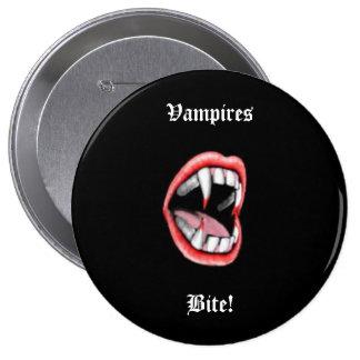 Vampires Bite! Pinback Button