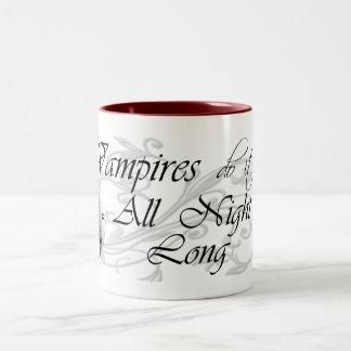 Vampires Do It All Night Long Two-Tone Coffee Mug