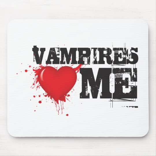 Vampires Heart Me Mouse Pad