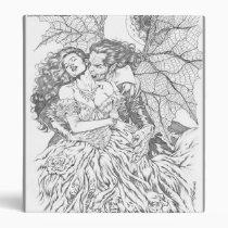 vampire's kiss,al rio,vampire,bite,vampires,horror,gothic,art,drawing,beautiful, Binder with custom graphic design