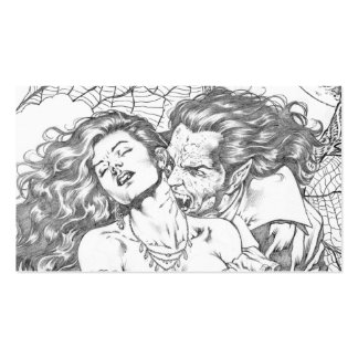 Vampire's Kiss by Al Rio - Vampire and Woman Art Business Cards