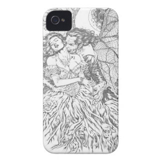 Vampire's Kiss by Al Rio - Vampire and Woman Art iPhone 4 Cover