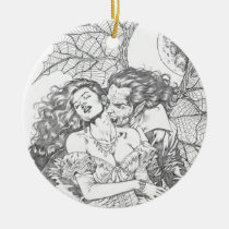 vampire's kiss,al rio,vampire,bite,vampires,horror,gothic,art,drawing,beautiful, Ornament with custom graphic design