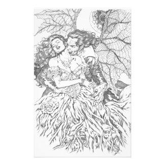 Vampire's Kiss by Al Rio - Vampire and Woman Art Flyer