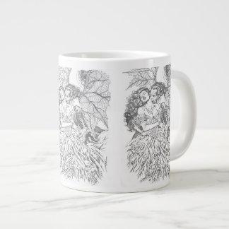 Vampire's Kiss by Al Rio - Vampire and Woman Art Large Coffee Mug