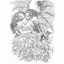 vampire's kiss,al rio,vampire,bite,vampires,horror,gothic,art,drawing,beautiful, Photo Sculpture with custom graphic design