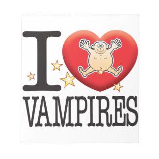 Vampires Love Man Note Pad