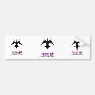 Vampires´ night bumper sticker