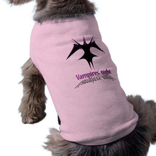 Vampires´ night doggie t shirt