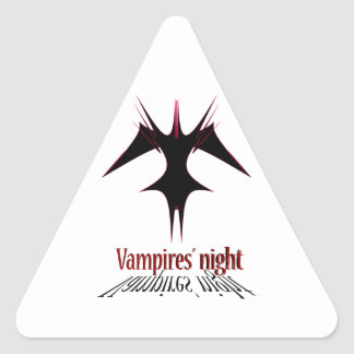 Vampires´ night triangle sticker