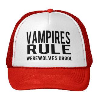 Vampires Rule Werewolves Drool Trucker Hat