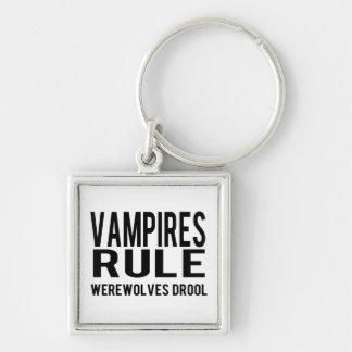 Vampires Rule Werewolves Drool Keychain