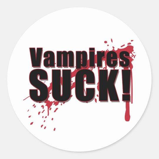 Vampires SUCK 2 Classic Round Sticker
