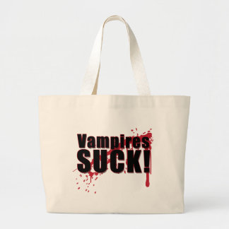 Vampires SUCK 2 Large Tote Bag