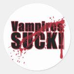 Vampires SUCK 3 Classic Round Sticker