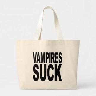 Vampires Suck Large Tote Bag