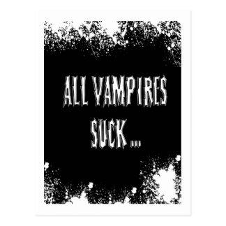 Vampires Suck Postcard