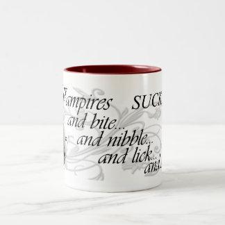 Vampires SUCK... Two-Tone Coffee Mug