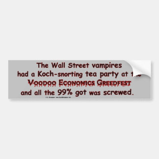 VampiresGreedfest3 Bumper Sticker