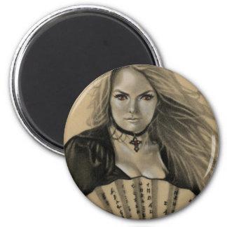 Vampiress Dia de los Muertos Magnet Imán Redondo 5 Cm
