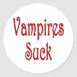 VampiresSuck-1 Classic Round Sticker