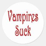 VampiresSuck-1 Pegatina Redonda