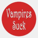 VampiresSuck-3 Pegatina Redonda