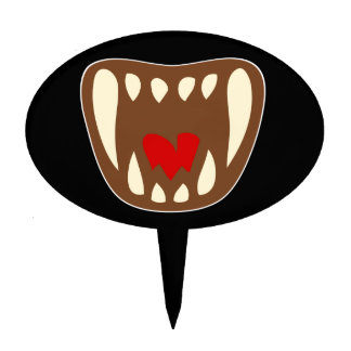 Vampirgebiss vampire fangs cake topper