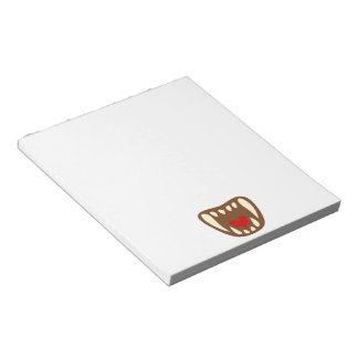 Vampirgebiss vampire fangs notepad