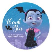 Vampirina | Birthday Thank You Classic Round Sticker