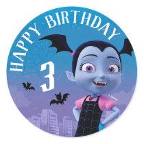 Vampirina | Happy Birthday Classic Round Sticker