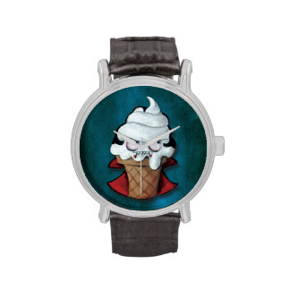 Vampiro asustadizo dulce del helado relojes