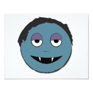 """Vampiro azul invitación 4.25"""" x 5.5"""""""