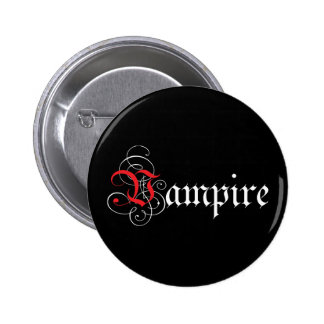 Vampiro caligráfico pin redondo 5 cm