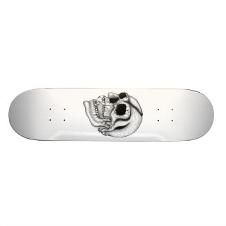 "Vampiro cráneo black and design white patineta 7 3/4"""