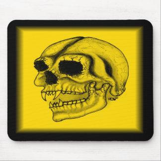 Vampiro cráneo dibujo negro amarillo tapetes de ratón