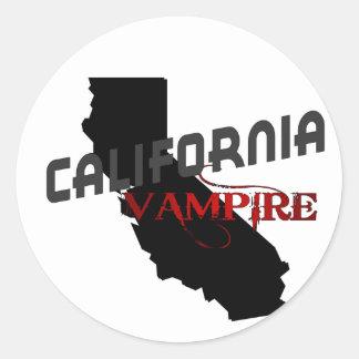 Vampiro de California Pegatina Redonda
