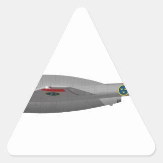 Vampiro de DeHavilland DH-100 Pegatina Triangular