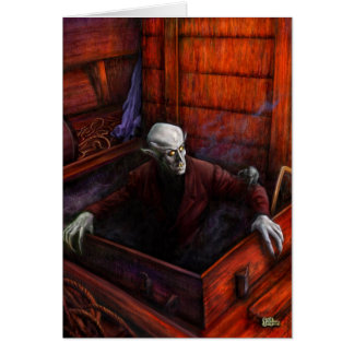 Vampiro de Drácula Nosferatu Tarjeta De Felicitación