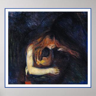 Vampiro de Edvard Munch Póster