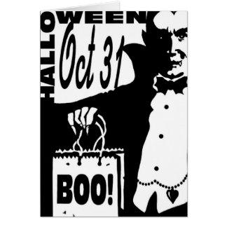 Vampiro de Halloween Tarjeta De Felicitación